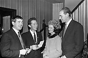 Mighty Avons reception at the Moira Hotel to launch the new Jim Reeves Tribute Disc..16.11.1964