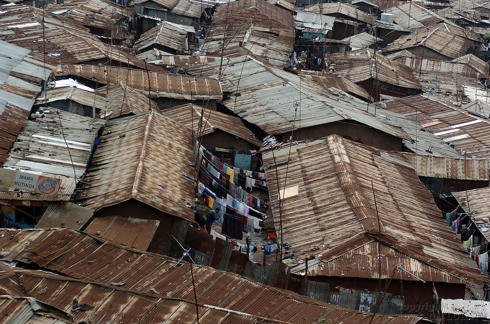 Kibera slum, Nairobi, Kenya, November, 2006..Photo by Erin Lubin