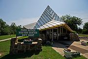 Stock photography of the visitors center at Lake Eufaula State Park and Marina in Eufaula, Oklahoma.