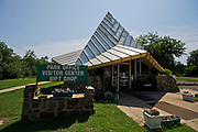 Stock photography of the visitors center at Lake Eufaula State Park and Marina in Eufaula, Oklahoma.