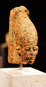 Head of a statue of the king Sesostris 111 12th dynasty 1875-1840 BC Thebes / Karnak Rose granite