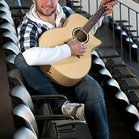 St Johnstone captain Kevin Rutkiewicz who is also a forging a career in the music business.<br /> Picture by Graeme Hart.<br /> Copyright Perthshire Picture Agency<br /> Tel: 01738 623350  Mobile: 07990 594431