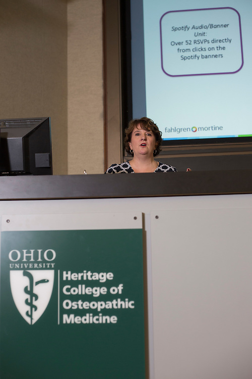 Amy Dawson, the executive vice president of Fahlgren Mortine, speaks at the Marketing Symposium on November 2, 2016.