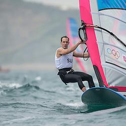 2012 Olympic Games London / Weymouth<br /> RSX man racing day 1 <br /> RS:X MenSUIStauffacher Richard