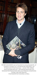 MR BEN GOLDSMITH son of the late Sir James Goldsmith, at a party in London on 11th December 2002.PGC 134