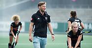 AMSTELVEEN - assistent-coach Robert Tigges (A'dam)  voor  Amsterdam-Huizen (4-1), competitie Hoofdklasse hockey dames   (2017-2018) .COPYRIGHT KOEN SUYK