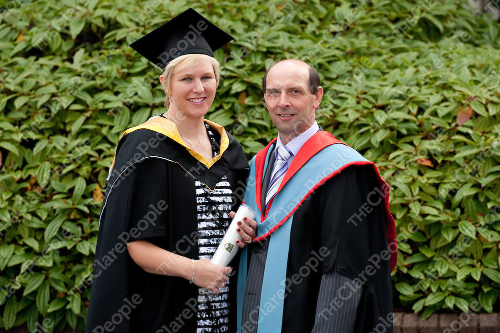 24.08.11<br /> Attending the University of Limerick  2011 conferring ceremonies on Wednesday morning were, Hayley Harrison and Head of Department of Physical Exercise and Health Fitness Dr. Drew Harrison,O'Briens Bridge, Co. Clare. Hayley was conferred with a MSc. Pic Alan Place Press 22.
