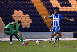 Colchester's Sam Walker and Colchester's Clinton Morrison   - Photo mandatory by-line: Mitchell Gunn/JMP - Tel: Mobile: 07966 386802 04/03/2014 - SPORT - FOOTBALL - Colchester Community Stadium - Colchester - Colchester v Rotherham - Sky Bet League 1