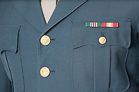 Detail shot of US military officer's uniform