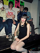 Naughty George, a young girl dressed up at The Junk Club, Southend, UK 2006