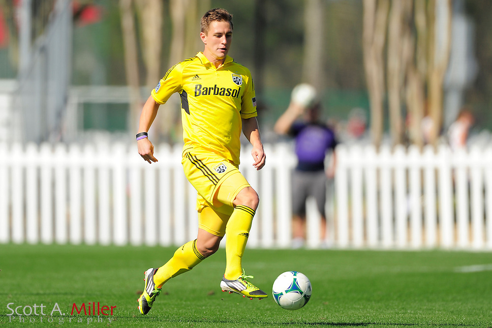 Columbus Crew midfielder Konrad Warzycha (19) during the Disney Pro Soccer Classic on Feb 9, 2013  in Lake Beuna Vista, Florida. ..©2013 Scott A. Miller