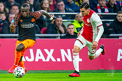 Nicolas Tagliafico #31 of Ajax and Bruma #7 of PSV Eindhoven in action during the match between Ajax and PSV at Johan Cruyff Arena on February 02, 2020 in Amsterdam, Netherlands