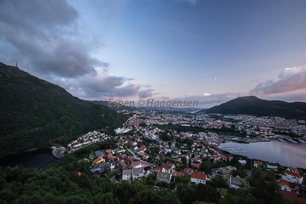 Moon over Bergen