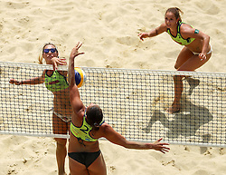 Monika Potokar and Erika Fabjan vs Mojca Pene during Beach Volleyball Slovenian National Championship 2016, on July 23, 2016 in Kranj, Slovenia. Photo by Matic Klansek Velej / Sportida