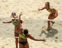 Monika Potokar and Erika Fabjan vs Mojca Pene during Beach Volleyball Slovenian National Championship 2016, on July 23, 2016 in Kranj, Slovenia. Photo by Matic Klansek Velej / Sportida