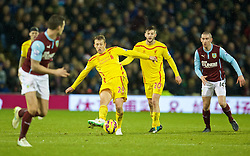 BURNLEY, ENGLAND - Boxing Day, Friday, December 26, 2014: Liverpool's Lucas Leiva in action against Burnley during the Premier League match at Turf Moor. (Pic by David Rawcliffe/Propaganda)