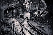 An abandoned mine cart in the historic Torbrit Silver mine, Alice Arm BC