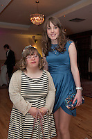 Hilary Moran, Caherlistrane & Orla Buckley, Loughrea at the Ability West Best Buddies ball at the Menlo Park Hotel, Galway. Photo:Andrew Downes Photography.