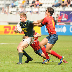 Dylan Sage of South Africa during the match between South Africa and Spain at the HSBC Paris Sevens, stage of the Rugby Sevens World Series at Stade Jean Bouin on June 10, 2018 in Paris, France. (Photo by Sandra Ruhaut/Icon Sport)