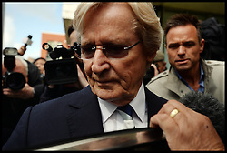 Coronation street star William Roache leaves Preston Magistrates Court, Preston, William Roache plays Ken Barlow in the soap Coronation street, The Coronation Street actor  is accused of raping a 15-year-old girl in the 60's, Tuesday  May 14, 2013. Photo by: Andrew Parsons / i-Images