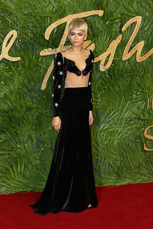 Zendaya, The Fashion Awards 2017, The Royal Albert Hall, London UK, 04 December 2017, Photo by Richard Goldschmidt