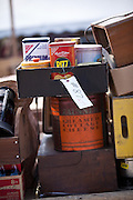 Old collectibles at auction during the Annual Mud Sale to support the Fire Department  in Gordonville, PA.