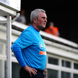 TELFORD COPYRIGHT MIKE SHERIDAN Hereford Director of football Tim Harris in charge  after the sacking of Marc Willisms in midweek during the National League North fixture between Hereford FC and AFC Telford United at Edgar Street, Hereford on Tuesday, August 13, 2019<br /> <br /> Picture credit: Mike Sheridan<br /> <br /> MS201920-009