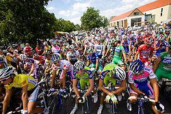 Riders before start of the 4th stage of Tour de Slovenie 2009 from Sentjernej to Novo mesto, 153 km, on June 21 2009, Slovenia. (Photo by Vid Ponikvar / Sportida)