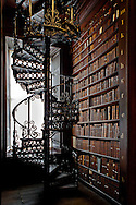 Trinity College's Old Library, The Long Room Spiral Staircase, Dublin, Ireland