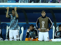 June 21, 2018 - Nizhny Novgorod, Russia - Group D Argentina v Croazia - FIFA World Cup Russia 2018.The disappoinement of Marcos Rojo (Argentina) and Lucas Biglia (Argentina) on the bench at Nizhny Novgorod Stadium, Russia on June 21, 2018. (Credit Image: © Matteo Ciambelli/NurPhoto via ZUMA Press)