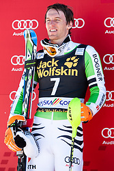 Second place for DOPFER Fritz of Germany y at medal ceremony during the 2nd Run of Men's Slalom - Pokal Vitranc 2014 of FIS Alpine Ski World Cup 2013/2014, on March 9, 2014 in Vitranc, Kranjska Gora, Slovenia. Photo by Matic Klansek Velej / Sportida
