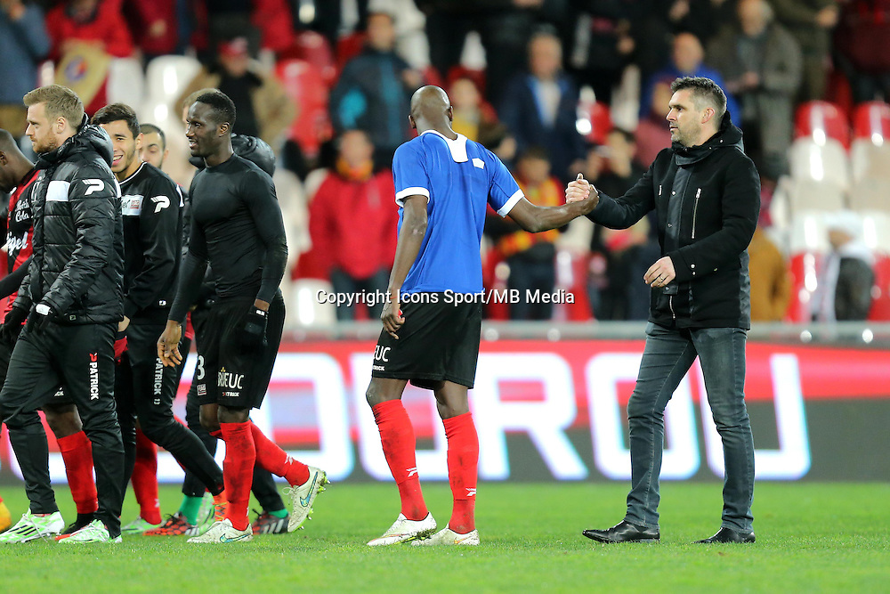 Joie Jocelyn GOURVENNEC / Younousse SANKHARE - 10.01.2015 - Guingamp / Lens - 20eme journee de Ligue 1<br />