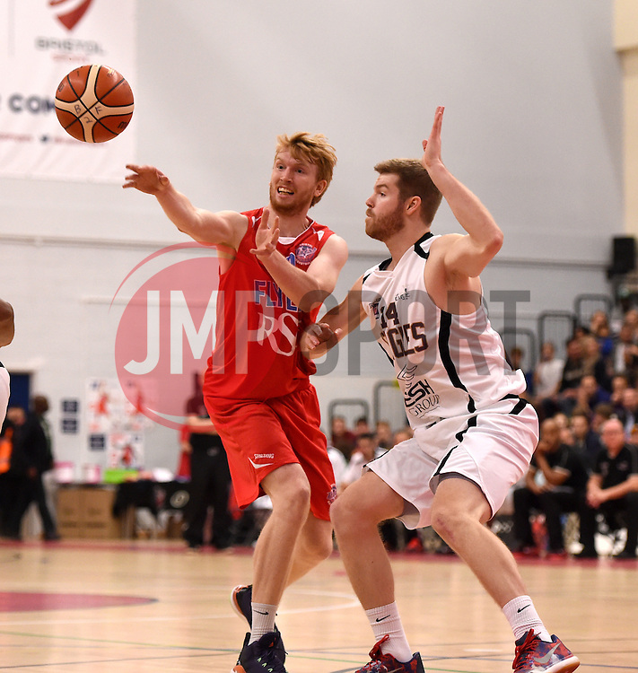 Mathias Seilund of Bristol Flyers passes  - Photo mandatory by-line: Joe Meredith/JMP - Mobile: 07966 386802 - 10/10/2015 - BASKETBALL - SGS Wise Arena - Bristol, England - Bristol Flyers v Newcastle Eagles - British Basketball League
