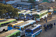 A bus stop in the early morning, Hossana, Ethiopia.