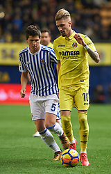 January 27, 2018 - Vila-Real, Castellon, Spain - Samu Castillejo of Villarreal CF and Igor Zubeldia of Real Sociedad during the La Liga match between Villarreal CF and Levante Union Deportiva, at Estadio de la Ceramica, on January 26, 2018 in Vila-real, Spain  (Credit Image: © Maria Jose Segovia/NurPhoto via ZUMA Press)