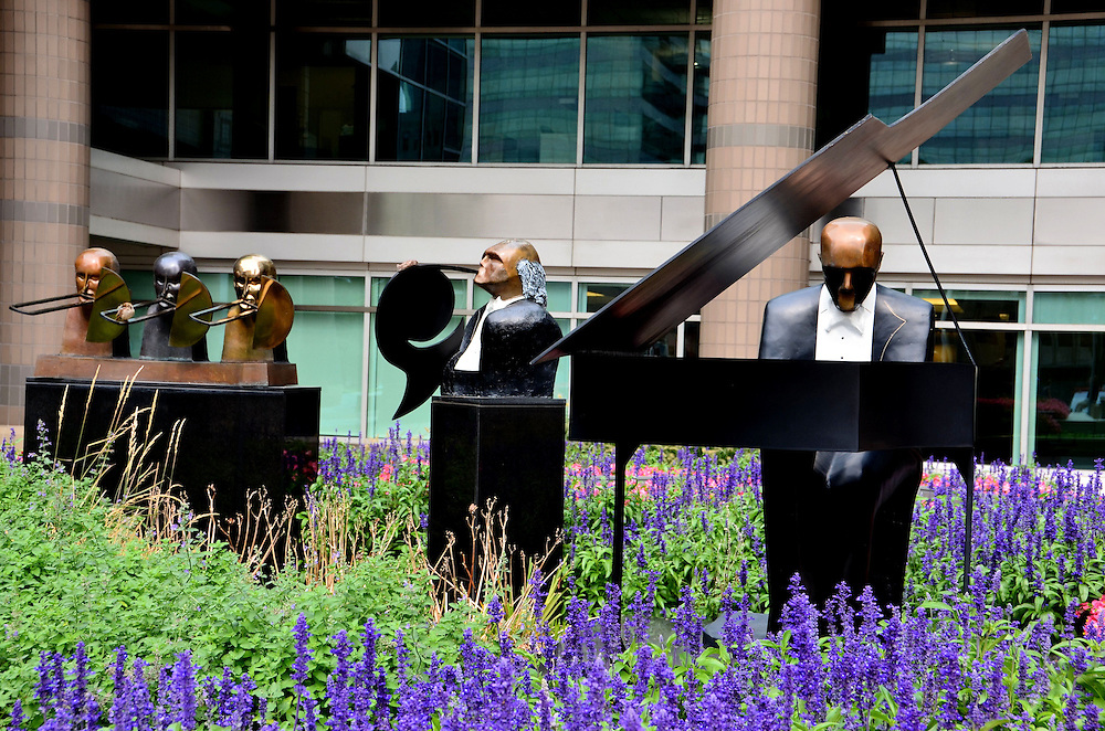 Symphonic Suite Sculpture by Michael Cunningham at North Point Tower in Cleveland, Ohio<br />
