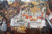Wat Phra Keo and Grand Palace. Murals of the Ramayana.