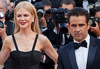 Nicole Kidman and Colin Farrell at The Killing of a Sacred Deer gala screening at the 70th Cannes Film Festival Monday 22nd May 2017, Cannes, France. Photo credit: Doreen Kennedy