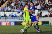 Peter Vincenti, Gary Deegan during the Sky Bet League 1 match between Rochdale and Southend United at Spotland, Rochdale, England on 25 March 2016. Photo by Daniel Youngs.