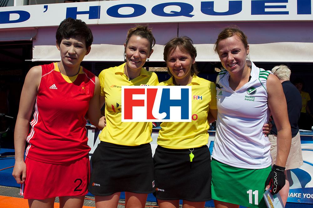 RIO 2016 Olympic qualification, Hockey, Women, quarterfinal, Ireland vs China : Mengyu Wang, Megan Frazer, Kelly Hudson and Elena Eskina
