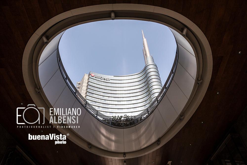 Emiliano Albensi<br /> 14/10/2017 Milano<br /> Nella foto: piazza Gae Aulenti a Milano<br /> <br /> Emiliano Albensi<br /> 14/10/2017 Milan<br /> In the picture: Gae Aulenti square in Milan