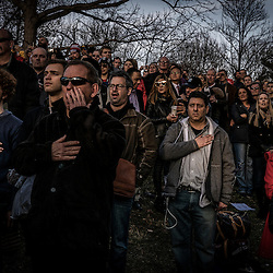 `Supporters of President Elect Donald J. Trump stand at attention during a pre-inauguration rally at the Lincoln Memorial in Washington, D.C., Thursday Jan. 19, 2017. ( William B. Plowman / REDUX Photo )