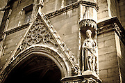 Exterior detail of Sainte-Chapelle Chapel, Paris, France