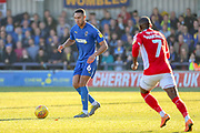 AFC Wimbledon defender Terell Thomas (6) dribbling during the EFL Sky Bet League 1 match between AFC Wimbledon and Charlton Athletic at the Cherry Red Records Stadium, Kingston, England on 23 February 2019.