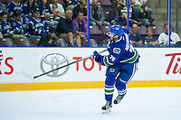 PENTICTON, CANADA - SEPTEMBER 16: Danny Moynihan #79 of Vancouver Canucks skates against the Edmonton Oilers on September 16, 2016 at the South Okanagan Event Centre in Penticton, British Columbia, Canada.  (Photo by Marissa Baecker/Shoot the Breeze)  *** Local Caption *** Danny Moynihan;
