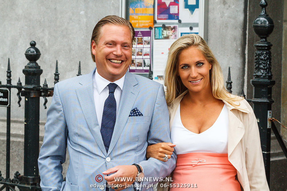 NLD/Amsterdam/20150620 - Huwelijk Kimberly Klaver en Bas Schothorst, zoon Theo Dietz en partner