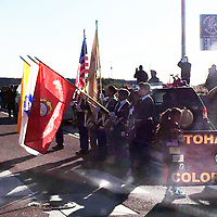 The Tohatchi High School Color Guard paid respects to late Sen. John Pinto, along U.S. Highway 491 in Tohatchi Wednesday as Pinto's body was transported in a procession to the Roundhouse in Santa Fe.