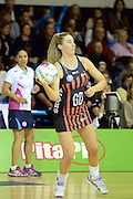 Mainland Tactix Holly Fowler in action during the 2016 ANZ Championship, Northern Mystics vs Mainland Tactix, The Trusts Arena, Auckland, New Zealand. Saturday 02 July 2016. Photo: Raghavan Venugopal / www.photosport.nz