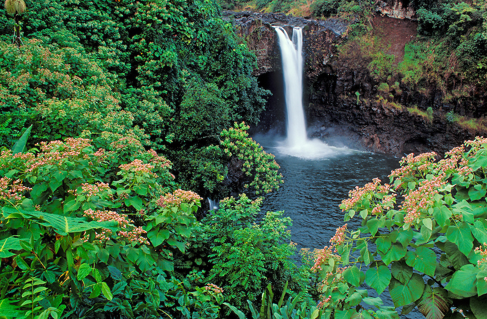 Rainbow Falls, Wailuku River State Park, Hilo, Island of Hawaii.