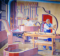 Union Terminal Baldwin Piano Mural in Cincinnati Ohio